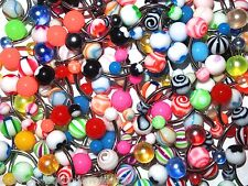 Set of 20  Mixed Belly Navel Bars  - 10mm - No Repeats - Body Jewellery
