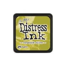 Tim Holtz Mini Distress Ink Pad Crushed Olive Green, Chartreuse