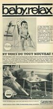 O- Publicité Advertising 1965 Puericulture Siège et table Baby Relax bébé