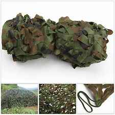 NEW Camo Net Camouflage Netting Hunting / Shooting Hide Army Woodland 4M x 1.5M
