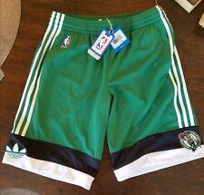 Adidas Boston Celtics NBA Basketball Court Shorts Men Adult Small New Perforated