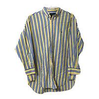 Ralph Lauren Mens XL Yellow Blue Striped Long Sleeve Button Down Casual Shirt