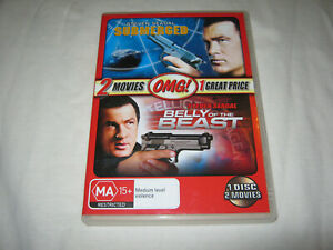Submerged + Belly of the Beast - Steven Seagal - VGC - DVD - R4