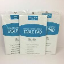 Elrene Table Pads Quilted Flannel Backed Table Protector Cut to Custom Size New