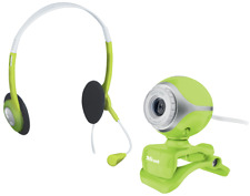 BARGAIN! NEW TRUST EXIS GREEN CHATPACK, WEBCAM WITH HEADSET + MIC, SALE NOW ON!