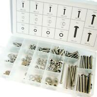 246 pc Assorted Stainless steel nuts bolts washer set M3 M4 M5 M6 in storage box