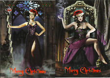 10 x 15cm Alchemy Gothic Black Rose Art Christmas Cards