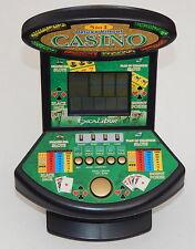 Deluxe 5 in 1 Virtual Casino Mini Arcade Machine Game Table Top Excalibur R7093