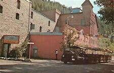 Helena Montana~Empty Miniature Train~Old Brewery Theater~1950s Man Takes Picture