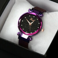 Women Luxury Starry Sky Masonry Watch Magnet Strap Buckle Stainless Xmas Gifts