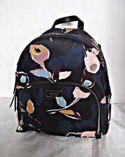 Kate Spade Nylon Dawn Paper Rose Black Multi Medium Backpack Bag WKRU5997