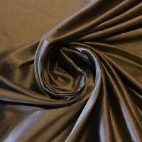 Brawny Brown-Gold 100/% Fine Silk Dupioni