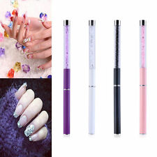 1PC GEL  Acrylic Nail Art Tips Design Dotting Painting Pen Polish Brush Set Pink