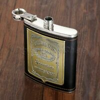 Black Liquor Hip Flask Outdoor Camping Whiskey Alcohol Wine Flagon Bottle 7oz