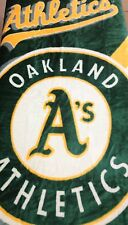 Vintage MLB Oakland Athletics A's Baseball Raschel Super Soft Blanket 50'X60'