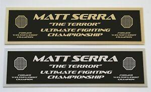 Matt Serra UFC nameplate for signed autographed mma gloves photo or case