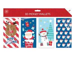 Christmas Money Wallet Traditional Gift Wallets & Envelopes 4 Designs