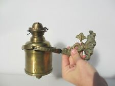 Antique Brass Oil Light Wall Lamp Sconce Boat Carriage Traveller Vintage Fish