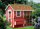 4' x 8' Combination Gable Chicken Coop Plans, Material List Included #80408CG