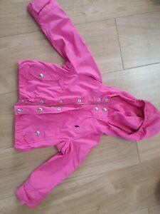 Ralph Lauren Girls Pink wind/light rain Jacket Age 3T