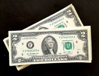 UNCIRCULATED US DOLLAR*SERIES OF $2 TWO DOLLAR BILL, New, Free shipping