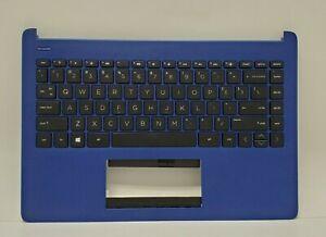 M03797-001 HP PALMREST TOP COVER INDIGO BLUE W/ KEYBOARD 14-FQ0037NR (4PARTS)