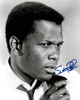 Sidney Poitier signed autographed 8x10 photo! RARE! AMCo Authenticated!
