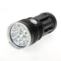 30000LM SKYRAY 12x CREE XM-L T6 LED Flashlight Torch 4x 18650 Hunting Light Lamp