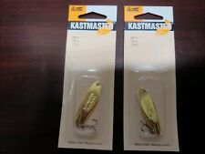 (LOT OF 2) Acme Kastmaster SW-10 1/4oz 7.0g GOLD