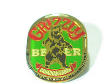 Grizzley Beer Pin Canadian Lager Hamliton Brewery , *