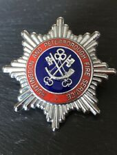 "HUNTINGDON & PETERBOROUGH FIRE SERVICE SERVICE, CAP BADGE, Height 1-3/4"" (43mm)"