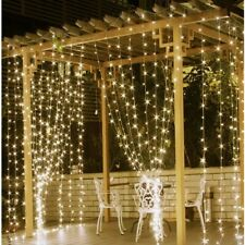 300LED Curtain Fairy Lights String Indoor Outdoor Window Wedding Christmas Party