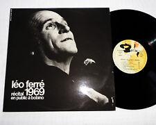 Leo FERRE Recital 1969 en public Bobino DOUBLE LP 33T Complet BARCLAY 80389/390