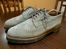 Dr. Martens Men Wing Tip Brogue Gray Nub-buck Suede Oxford Shoes Size 11