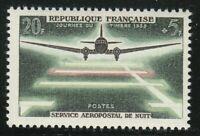 France 1959 MNH Mi 1240 Sc B239 Plane Landing at Night **