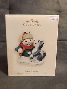 Hallmark Keepsake Ornament Snow Buddies Snowman 2007 Husky Dog Pet #10 10th