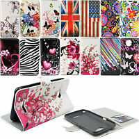 Magnetic Flip Stand PU Leather Card Wallet Pouch Case Cover For Sony Experia E4G