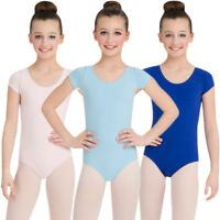 Capezio Little Girls Classic Short Sleeve Leotard (CC400C) All Sizes