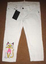 """Dsquared2 Cat Print White Crop Jeans/Pants - W28""""/L18"""""""