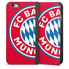 Apple iPhone 6 Tasche Hülle Flip Case - großes FC Bayern München Logo Rot