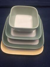 4 Piece Dansk Graves Studio AnG.L Dipping Dish Yellow Maize Fern Green