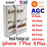 50X Lot Wholesale Retail Tempered Glass Protector for Apple iPhone 6 7 8 PLUS