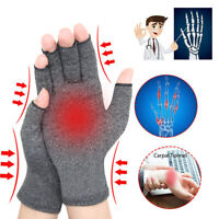 2X Copper Compression Anti Arthritis Gloves Fit Carpal Tunnel Joint Pain Relief