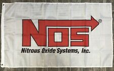 Nos Nitrous Oxide System Banner 3x5 Ft Racing Flag Garage Shop Wall Decor