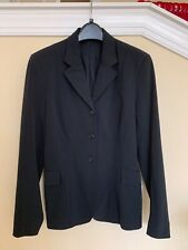 Tailored Sportsman Black Equestrian Softshell Stretch Show Coat Jacket Sz 6 Euc