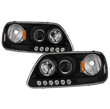 Spyder 5010261 Halo LED Projector Headlights Black For 97-03 Ford F-150 2pc NEW