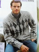 MEN'S ZIP-FRONTED JACKET ~ Knitting Pattern ~ sizes 34-44 ~ NEW