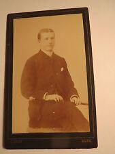 Burg - Magdeburg 1887 - Mann  Hermann ? Paasche als junger Mann - Portrait / CDV