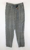 Chic abooti Brand Black Floral Printed Pull On Casual Pants Size 14 BNWT #SL104