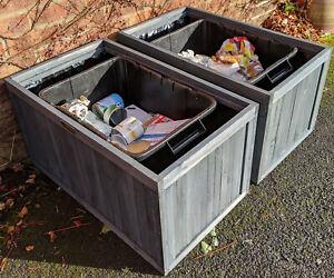 BinGarden Planters STORE kerbside Recycling Boxes STORAGE Food waste recycle bin